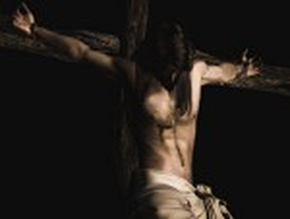 Artistic Rendition of Jesus Being Crucified