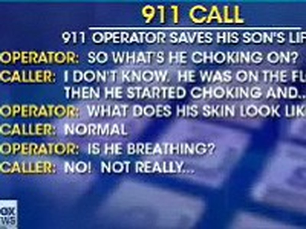 911 Operator Saves his Own Sons Life - Amazing
