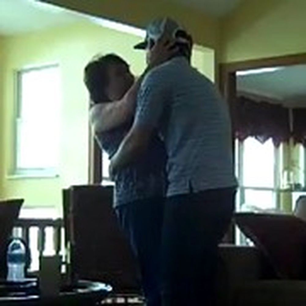 Airman Home Early Surprises his Very Excited Mother