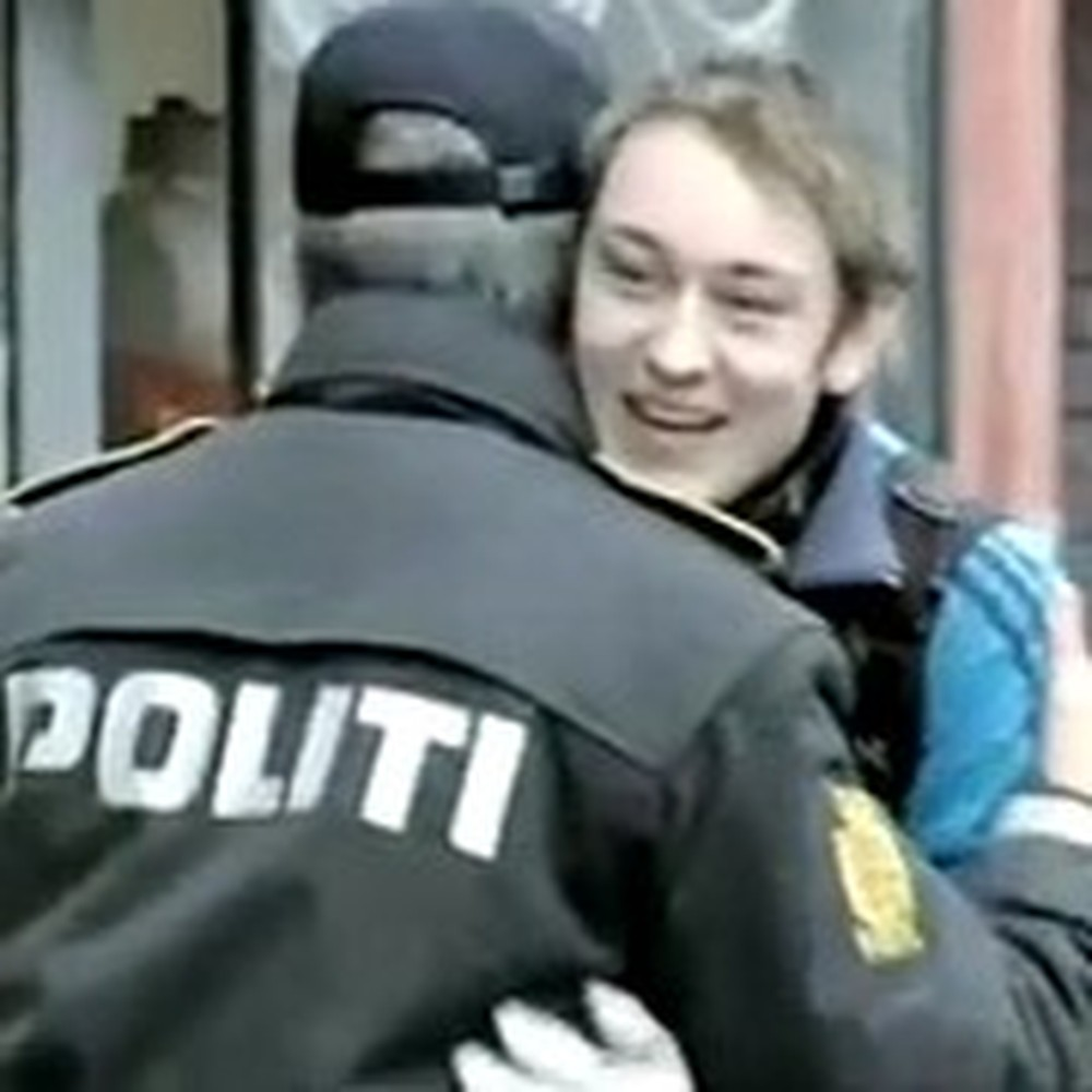 Police Give Out Hugs and Helmets Instead of Tickets