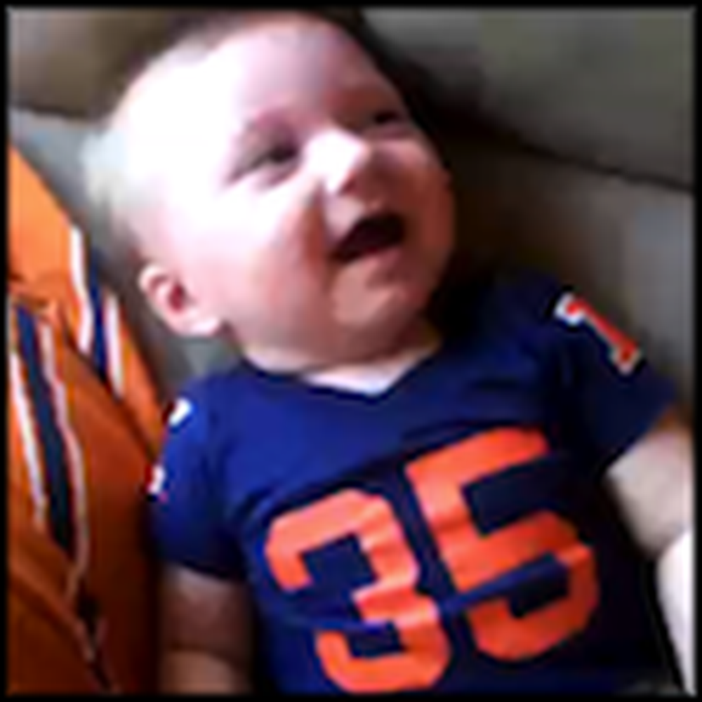 Laughing Baby Has a Great Sense of Humor