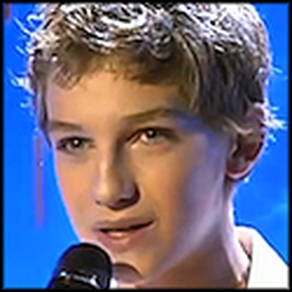14 Year Old Sings You Raise Me Up Like an Angel