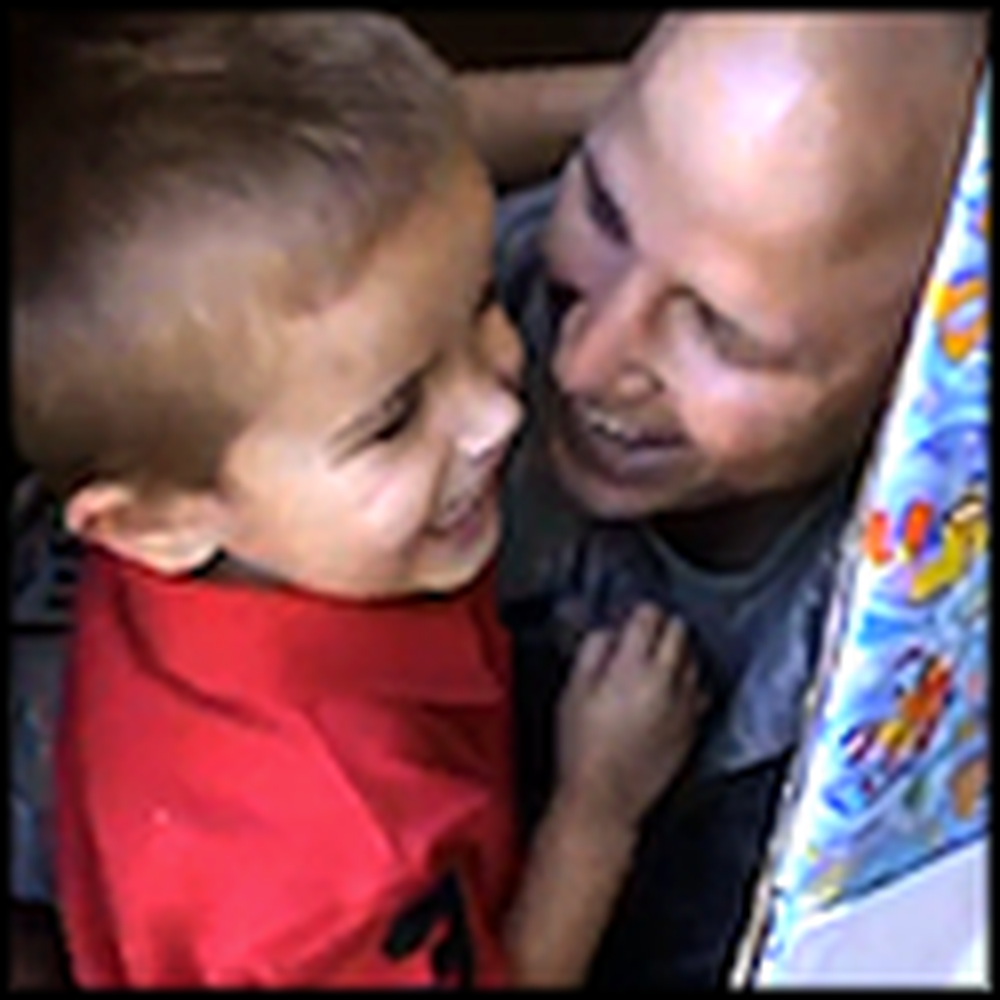 Airman Hides in a Box to Surprise his Son for his Birthday