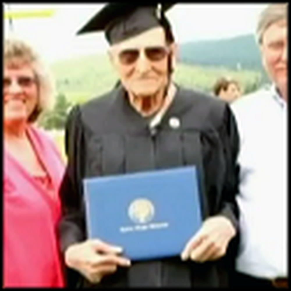 99 Year Old Man Graduates from College