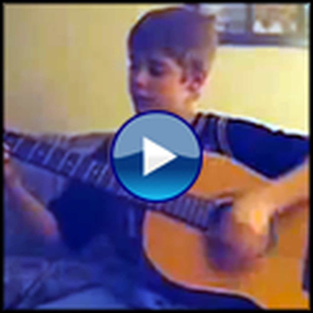 A Very Young Justin Bieber Sings a Song for Jesus