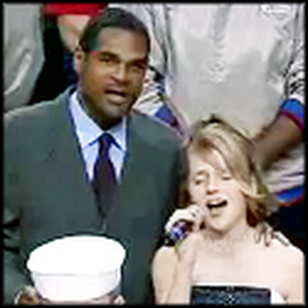 Mo Cheeks Helps a Girl Who has Trouble with the National Anthem