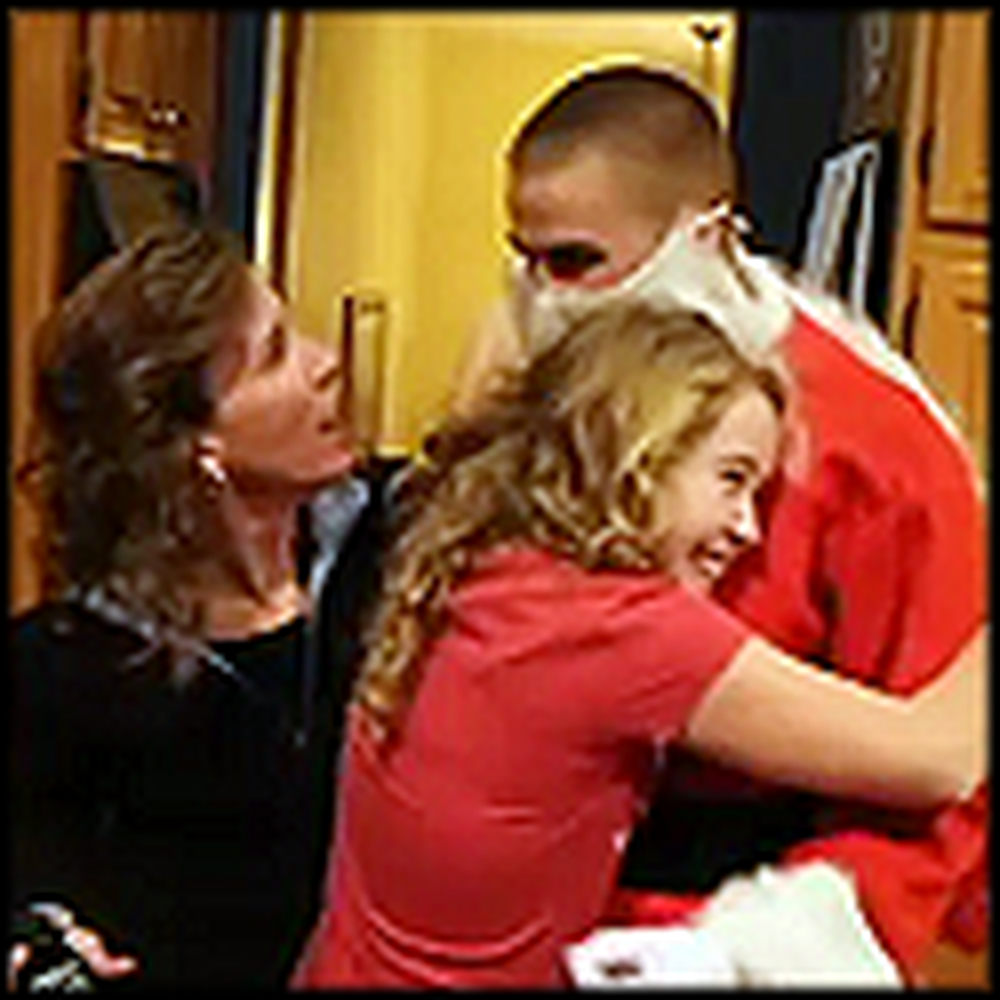 Mom Gets a Huge Surprise When Santa Turns Out To Be her Soldier Son
