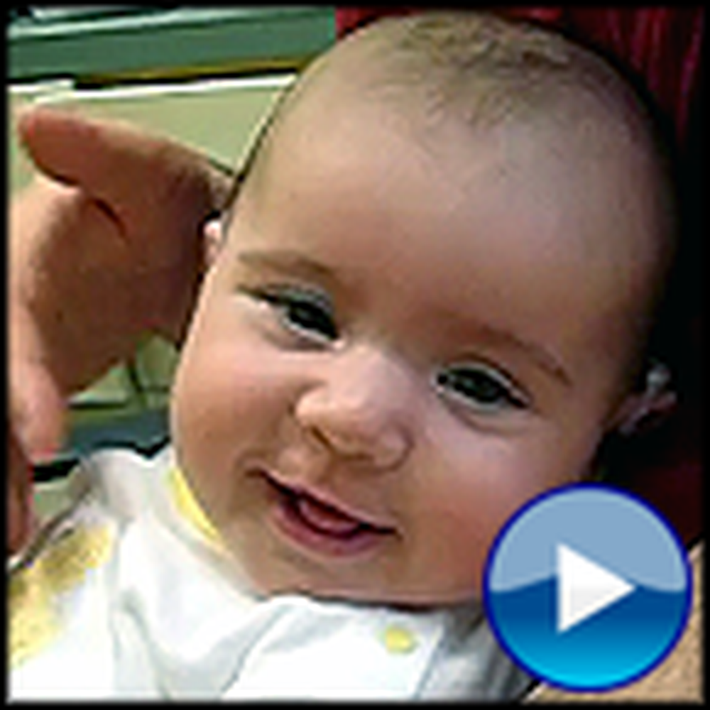 Deaf Baby Hears her Daddy's Voice for the First Time