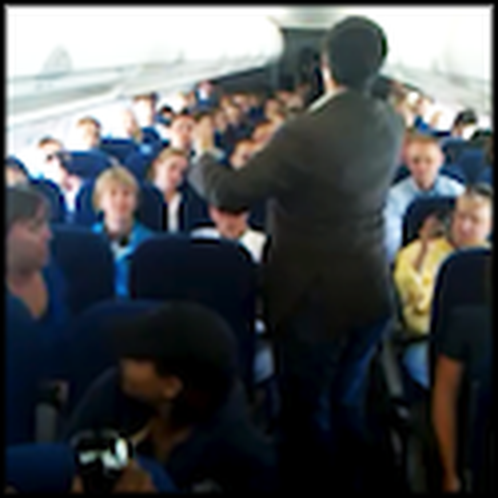 Passengers Break Out into Song While Waiting on a Plane
