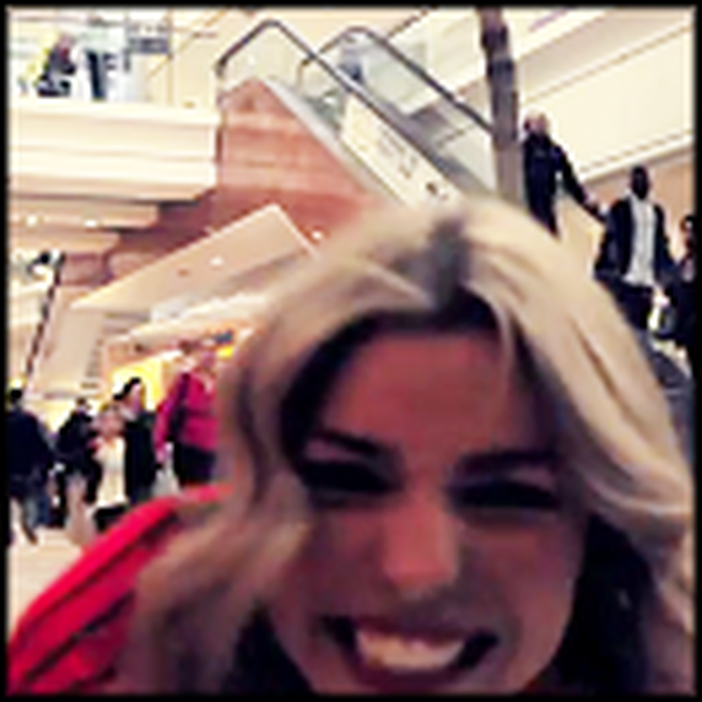 Dance Like Nobody's Watching - a One Girl Flash Mob at the Mall