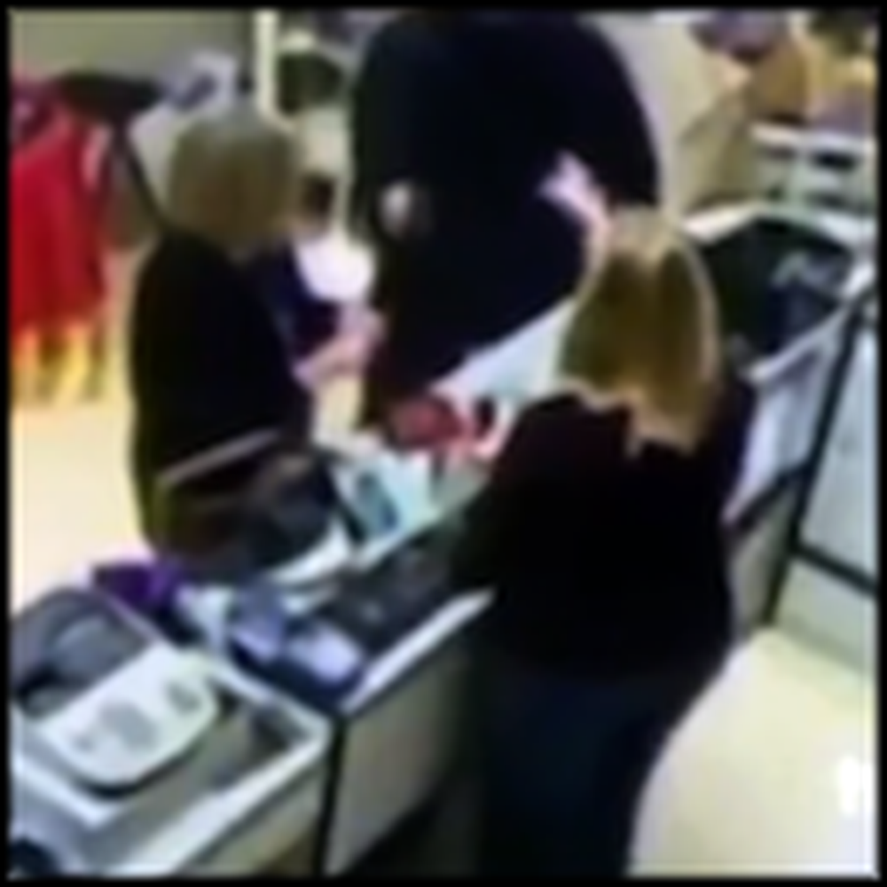 Cashier Uses the Power of God to Stop a Robber - Wow
