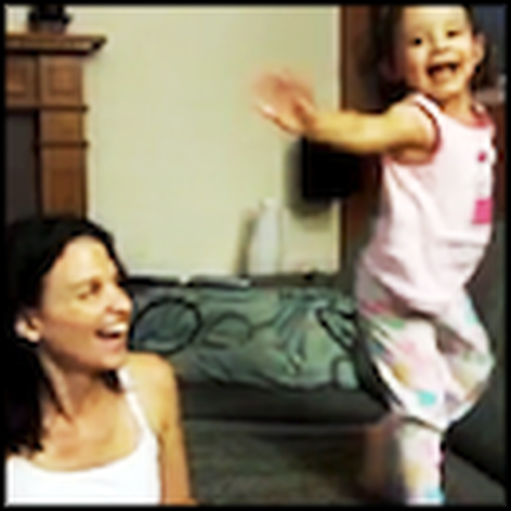Little Girl Has the BEST Reaction to Becoming a Big Sister