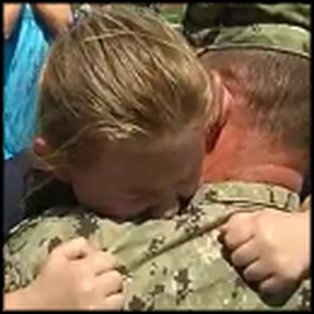 Little Girl Cries So Hard Over Daddy Coming Home