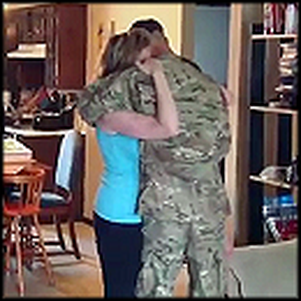 Wife Cries Uncontrollably When Her Army Husband Comes Home