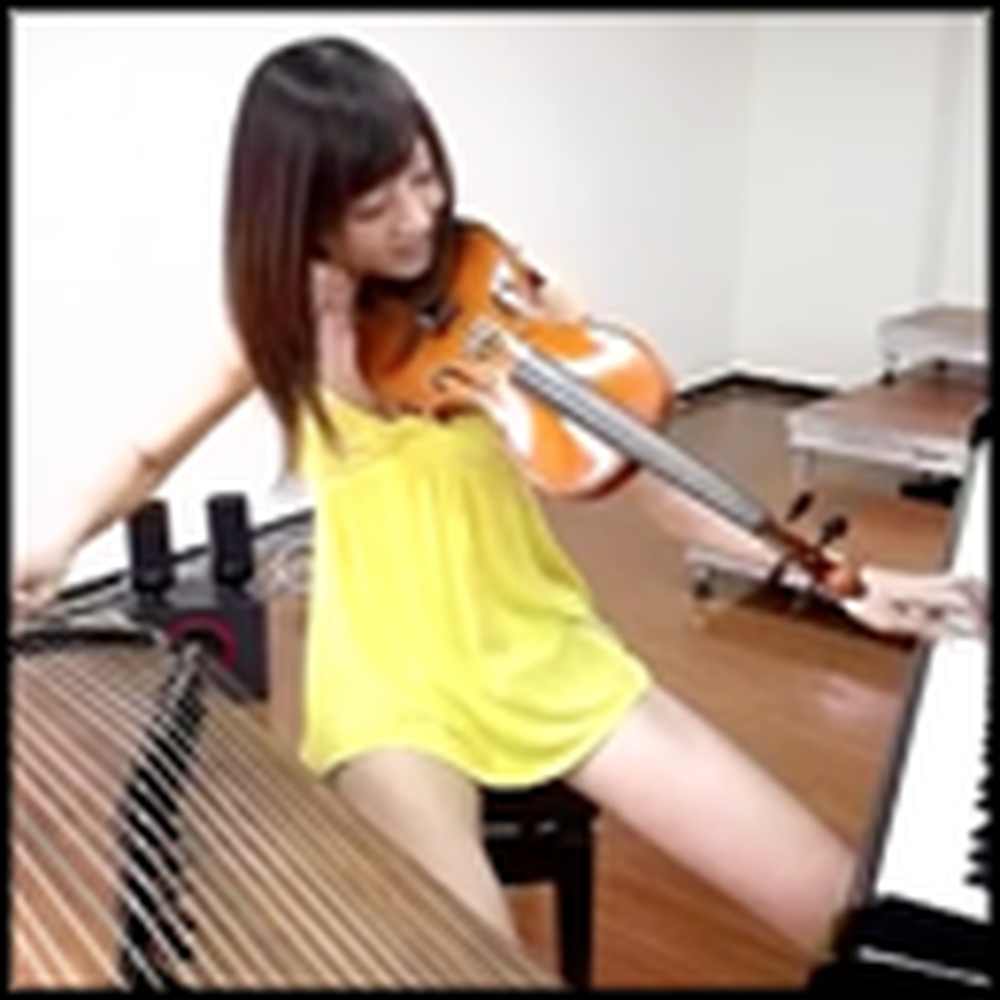 Incredibly talented Girl Can Play 3 Instruments at Once