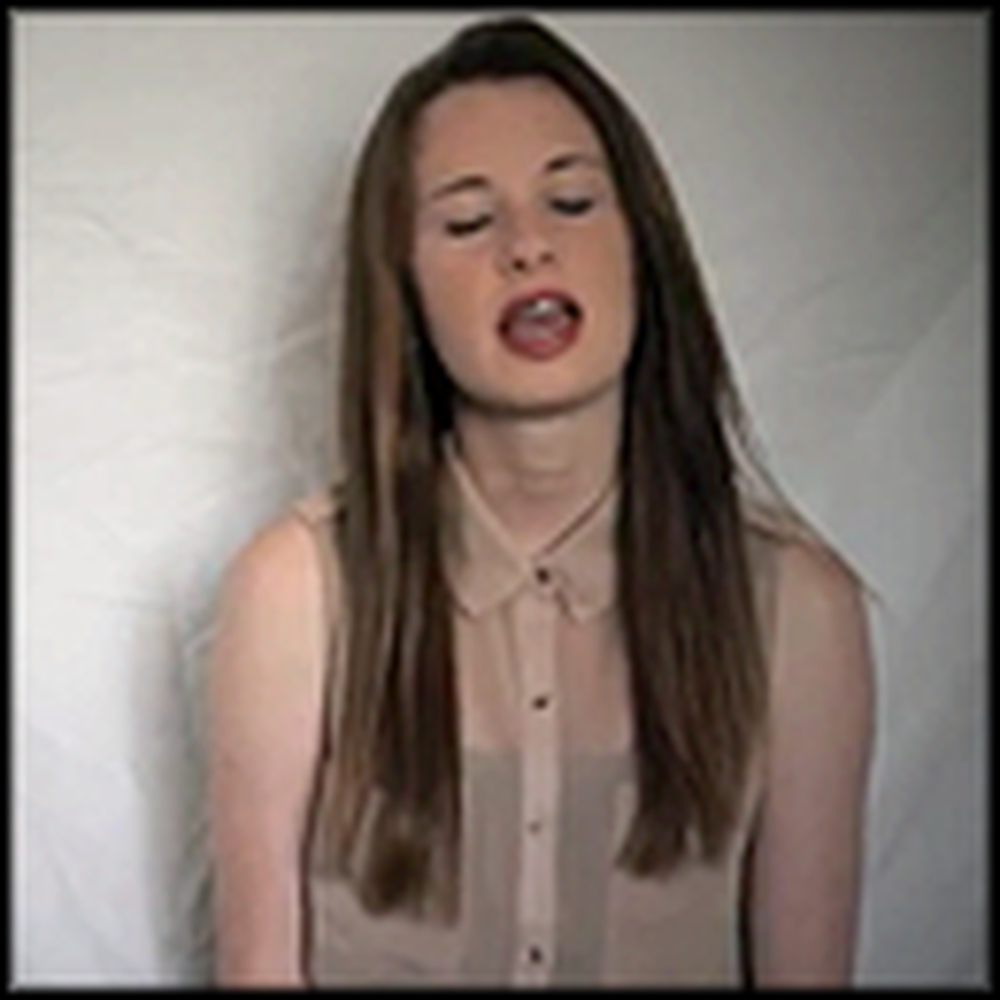 Very Talented Girl Sings In Christ Alone - What a Great Voice