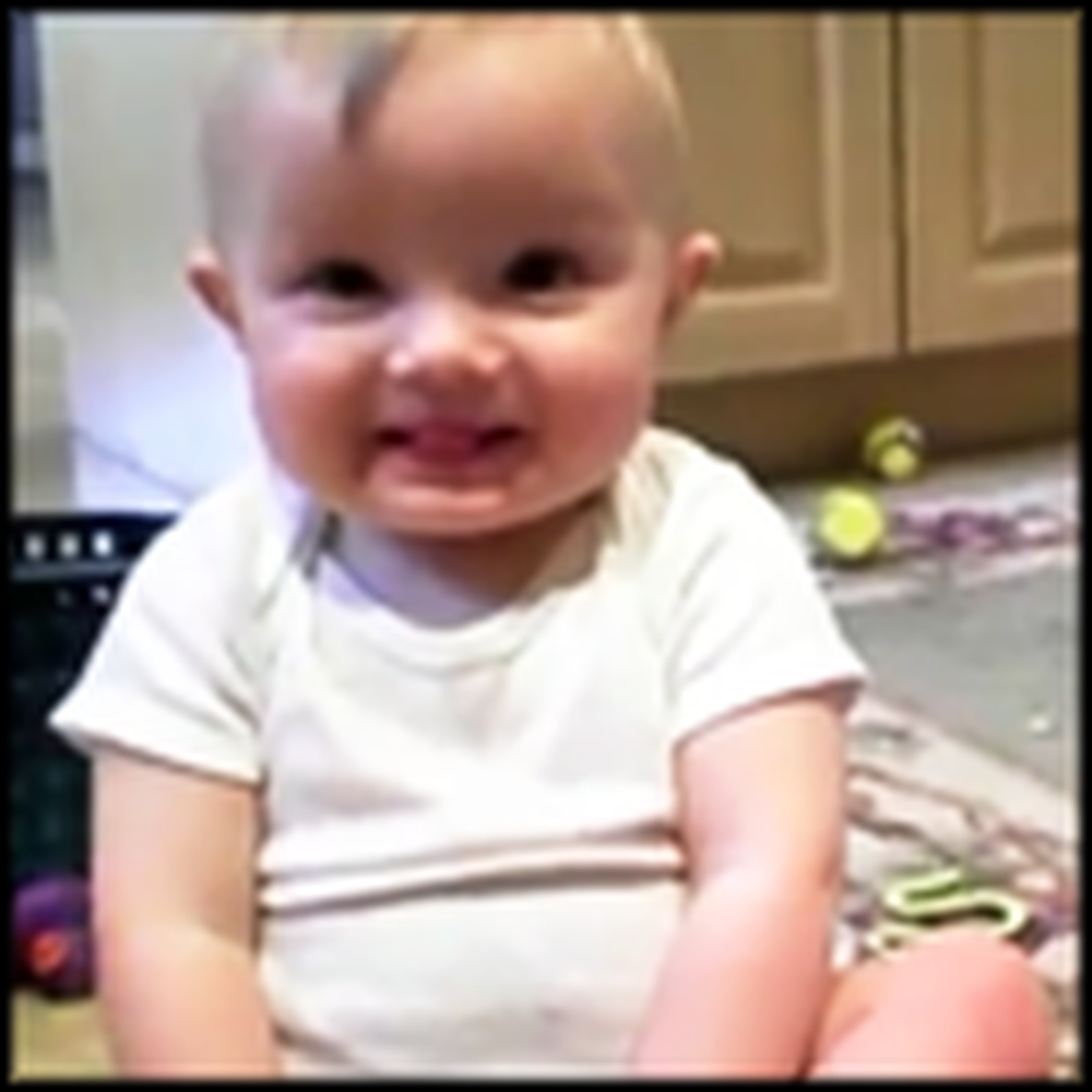 Adorable Twin Babies Mimic Daddy in the Cutest Way