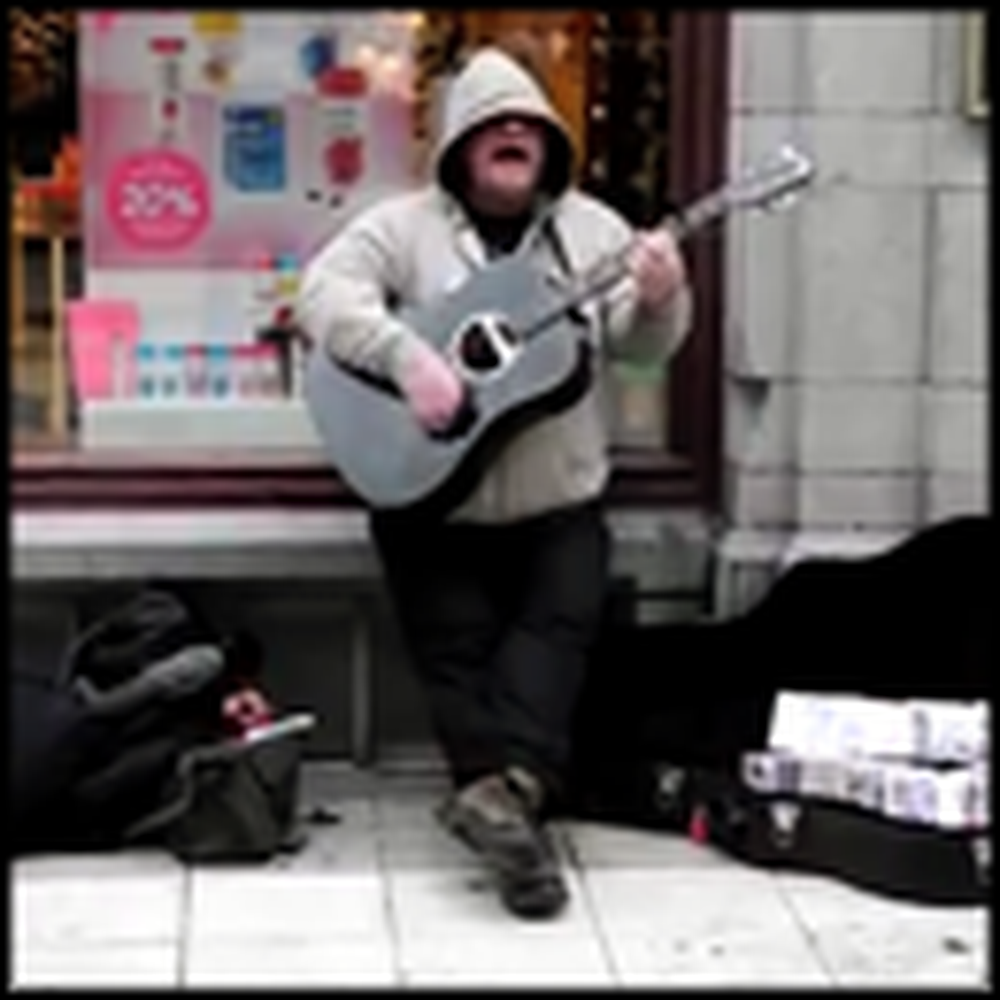 Homeless Street Performer's Voice Will Make Your Jaw Drop