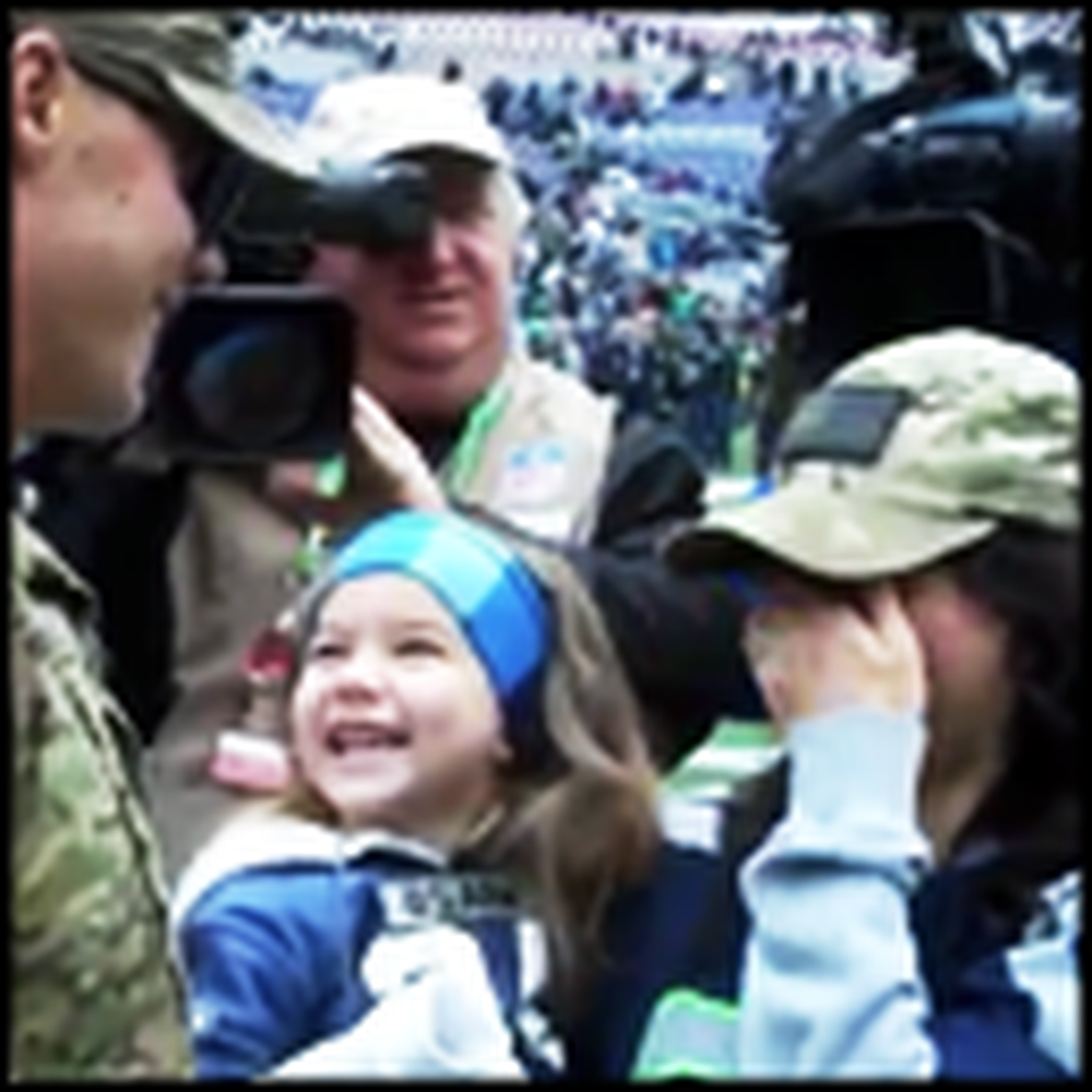 Heartwarming Soldier Reunion of the Year at a Seahawks Game