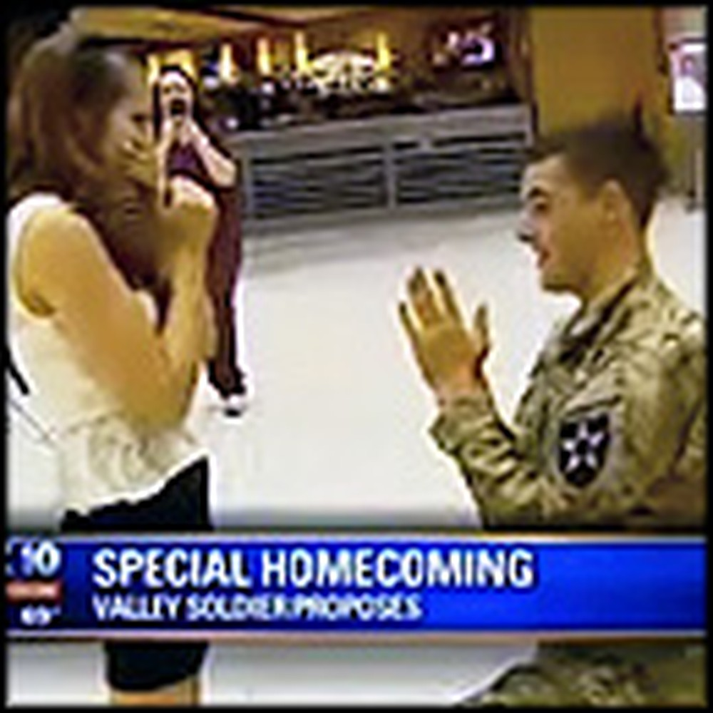 One Soldier's Incredibly Unique Surprise Proposal