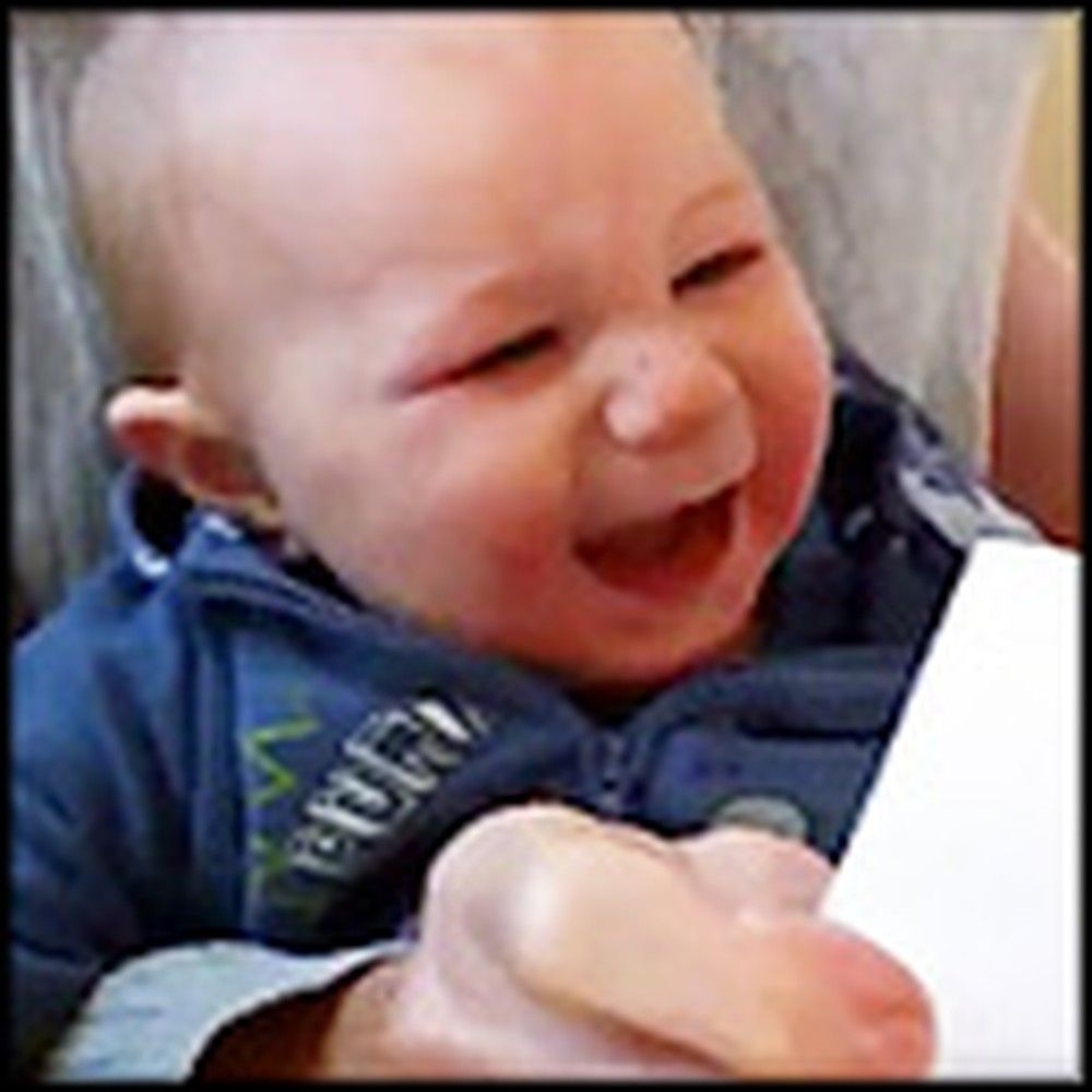 Something Simple Makes this Baby Really Happy