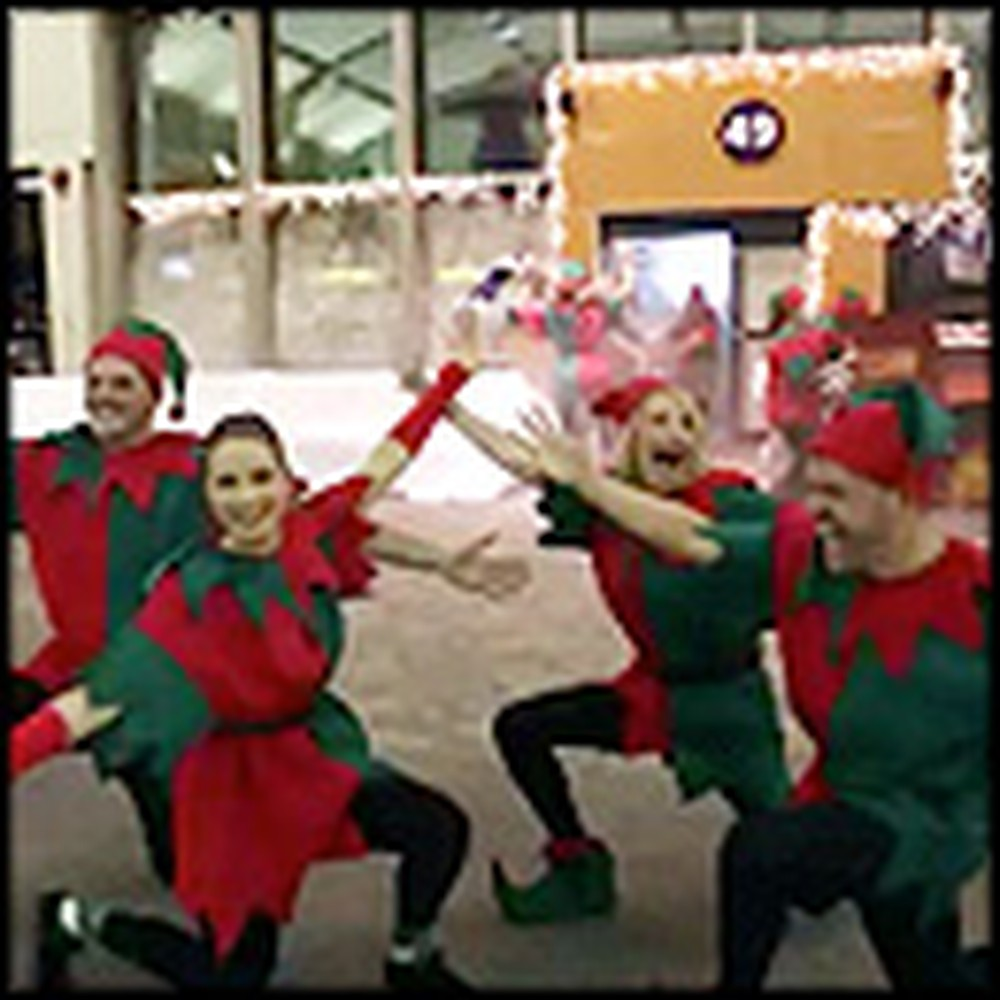 Fun Christmas Flash Mob Brings Joy to Weary Travelers