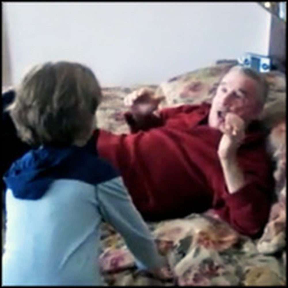 Napping Grandpa Gets an Unexpected Surprise
