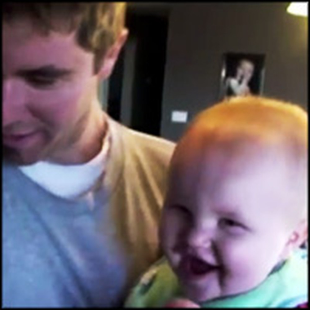 Baby Thinks His Daddy's Cooking is Hilarious