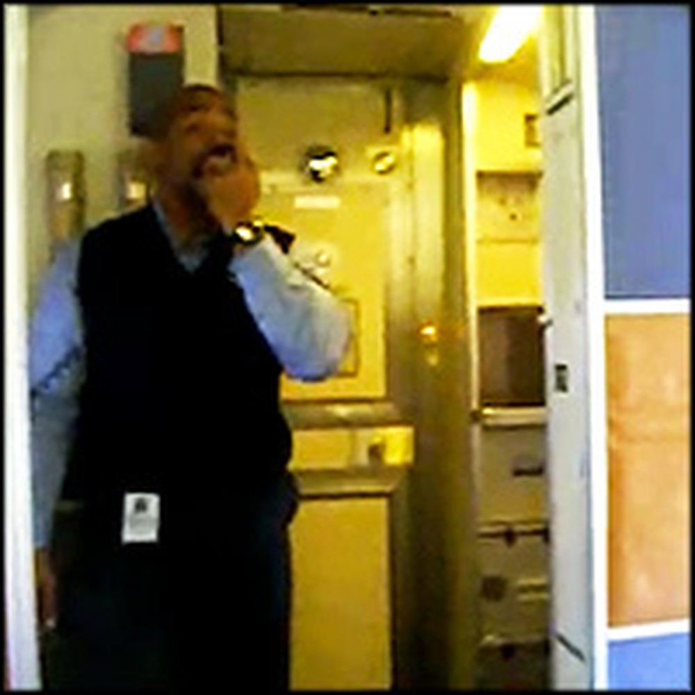 Flight Attendant Does the Coolest Thing to Explain Flying Rules