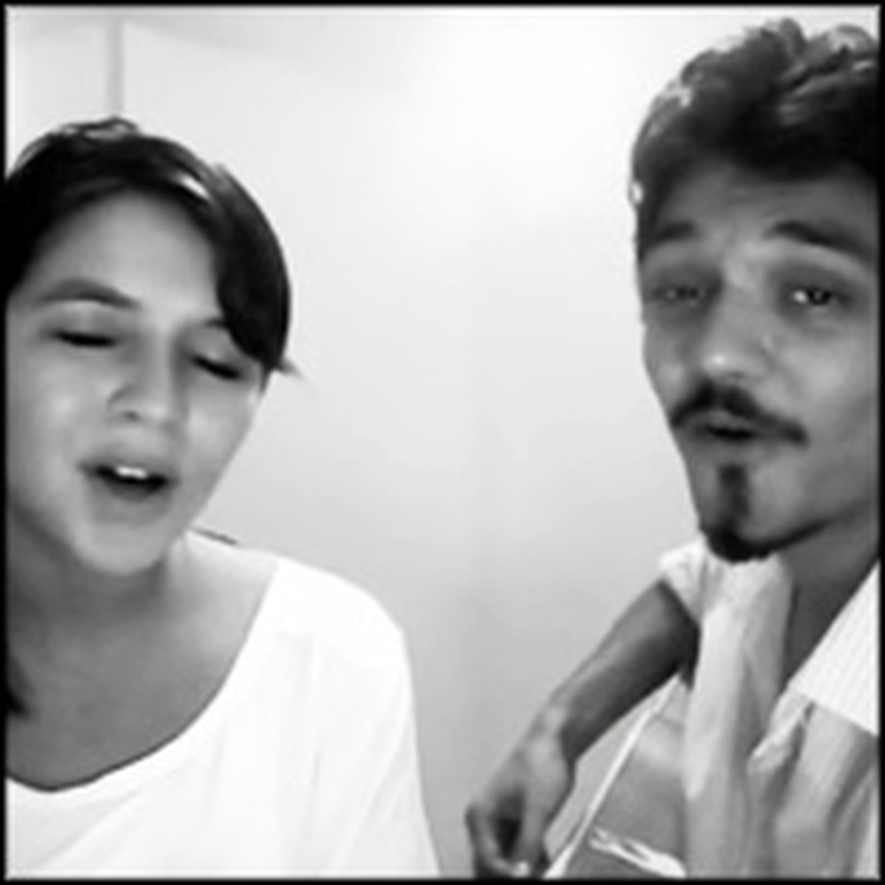 Brother and Sister Sweetly Perform a Soothing Christian Song