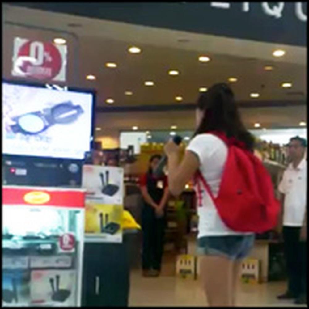 Random Girl Steps Up to a Karaoke Machine and Blows Everyone Away