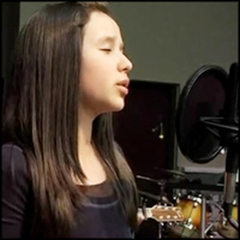 11 Year Old Girl Sings a Breathtaking Version of a Christian Song