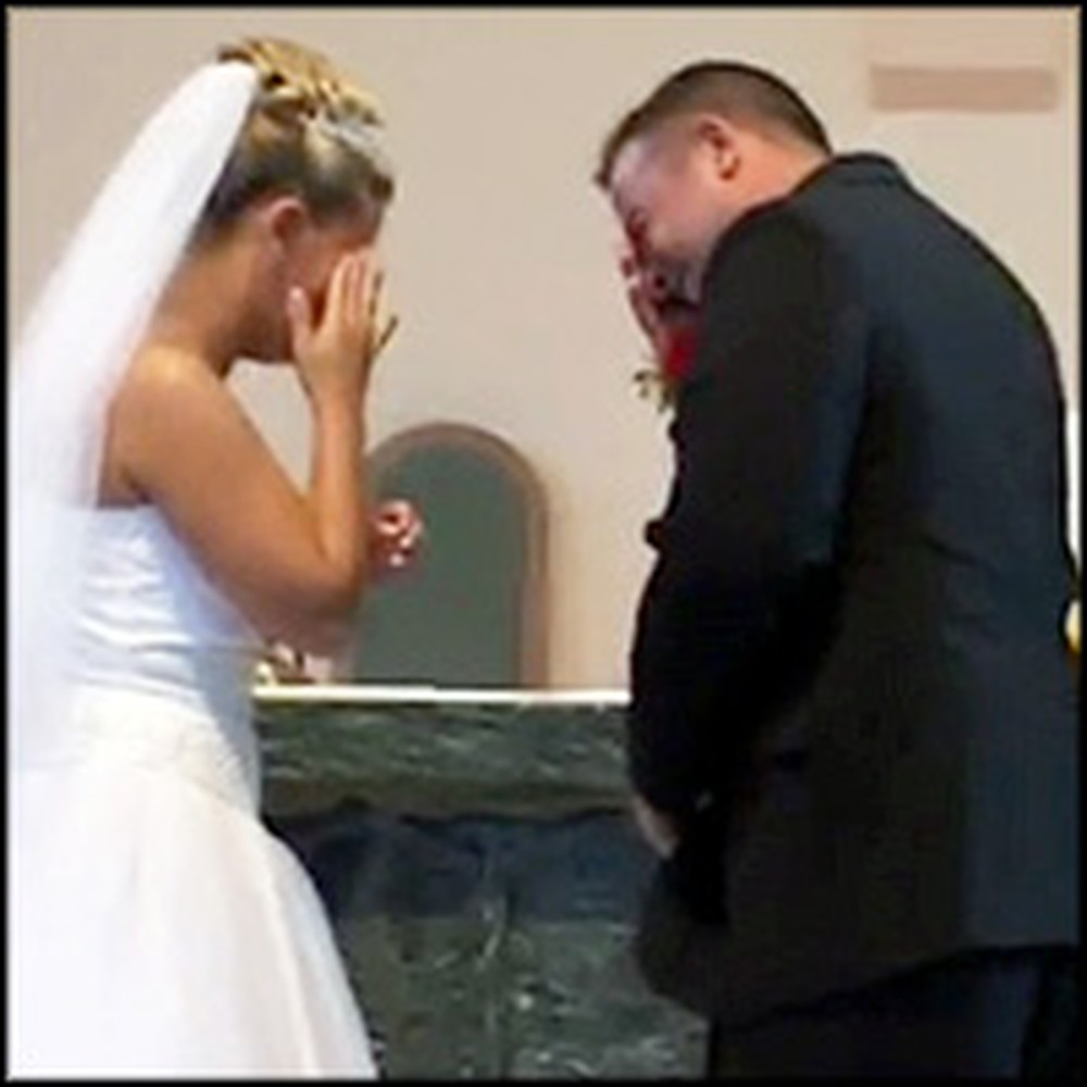 Bride and Groom Can't Stop Laughing During Their Vows