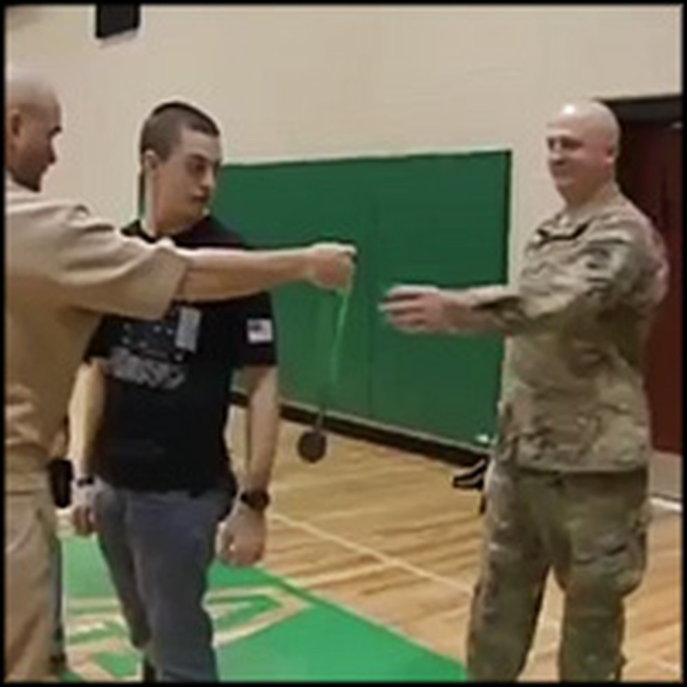 Soldier Gives His Grown Sons an Emotional Surprise at School
