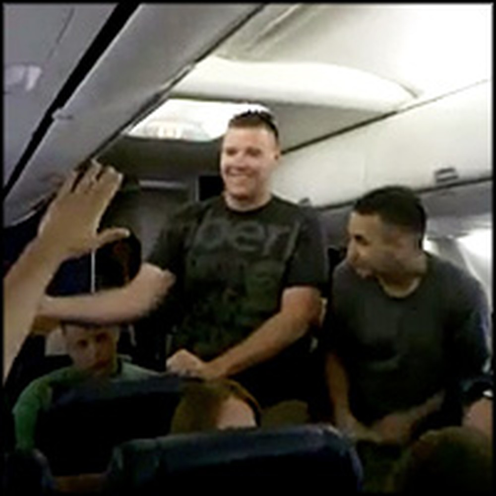 U.S. Marine Sings Home by Michael Buble on a Plane