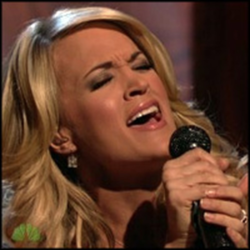 Carrie Underwood Emotionally Sings Temporary Home