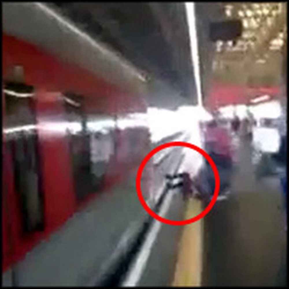 Speeding Train Miraculously Misses a Girl by a Split-Second