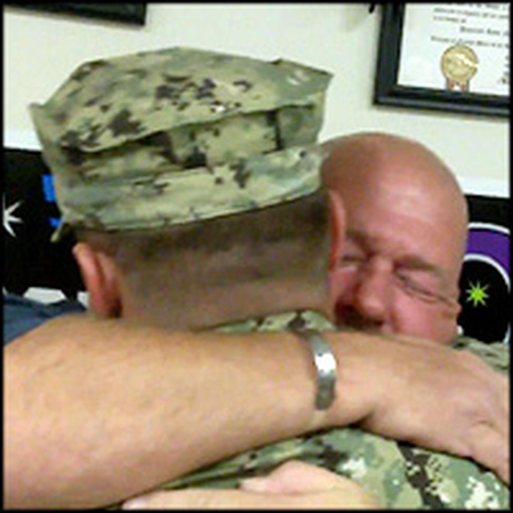 Sailor Son Gives His Father an Awesome Surprise on 50th Birthday