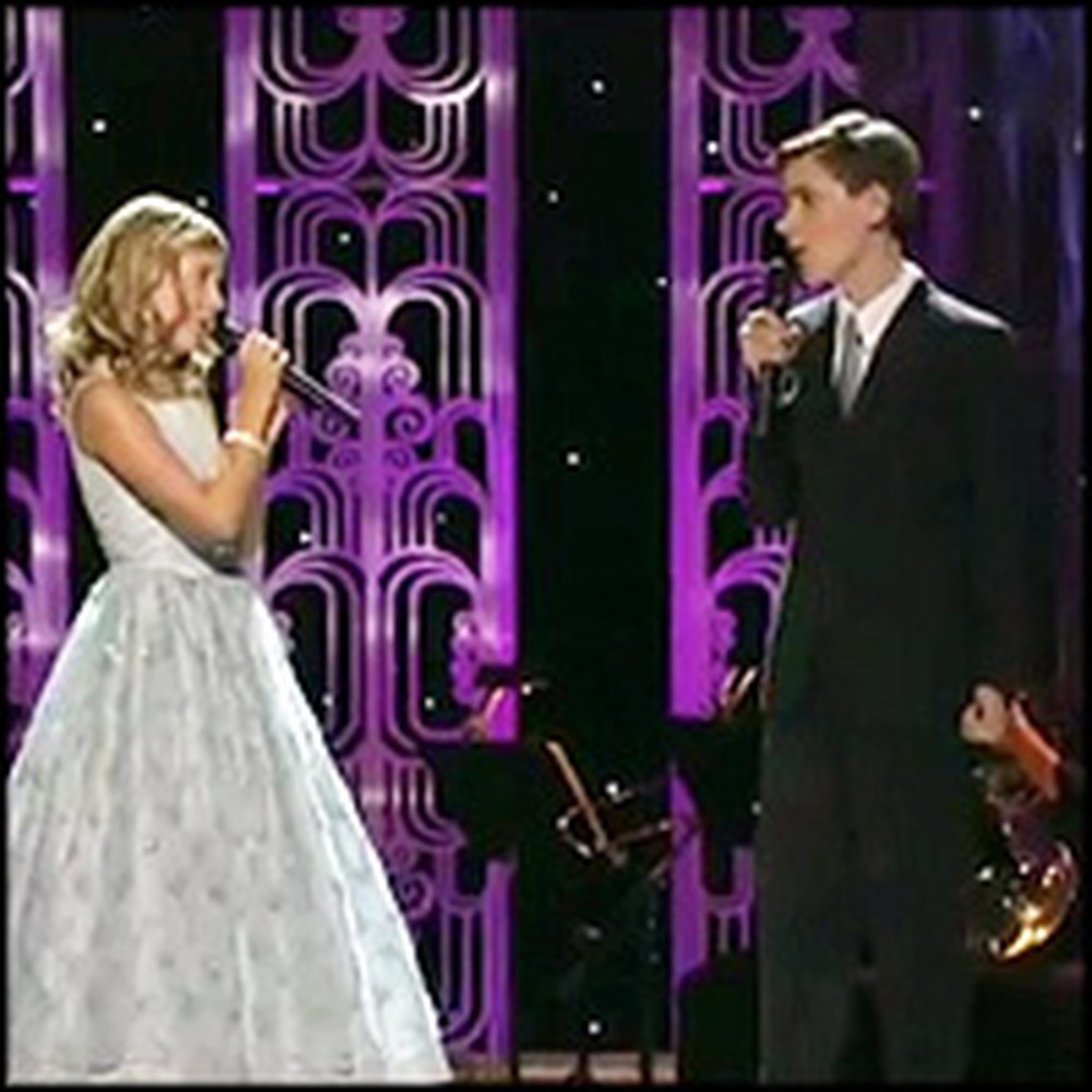 Angelic Jackie Evancho Sings the Sweetest Duet With Her Older Brother