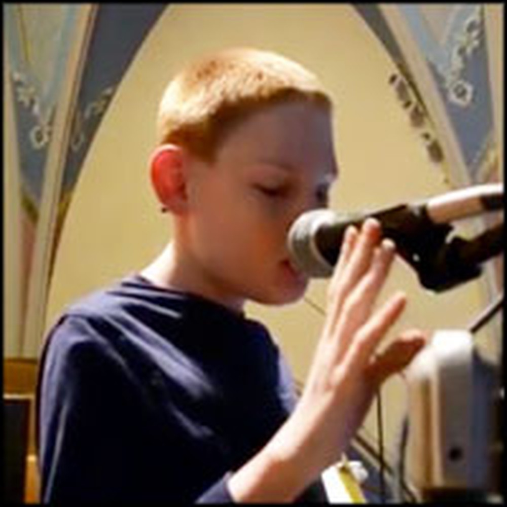 Blind Boy with Autism Sings Ave Maria Like an Angel of God