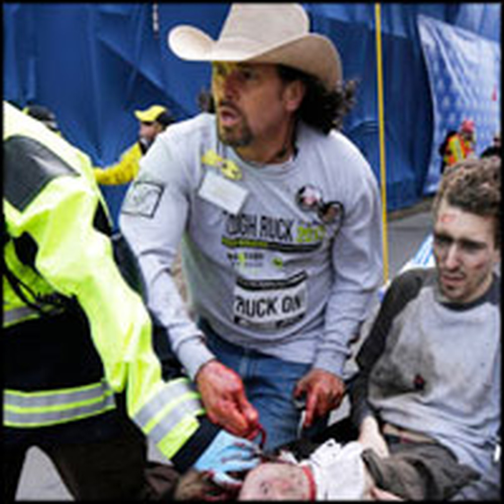 Amazing Hero Saves the Lives of Those Hurt in Boston Marathon Bombing