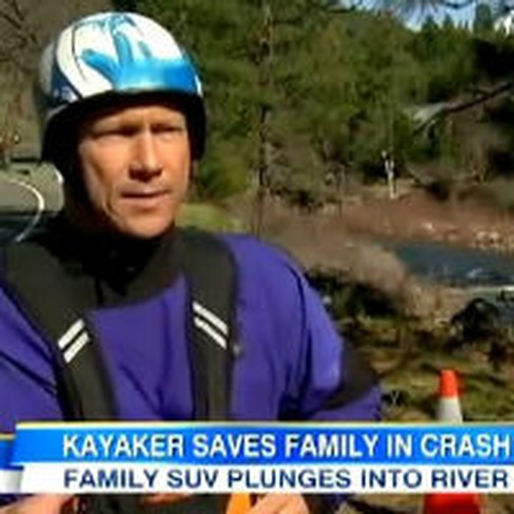 Kayaker Saves Family After SUV Plunges Off a Cliff Into a River