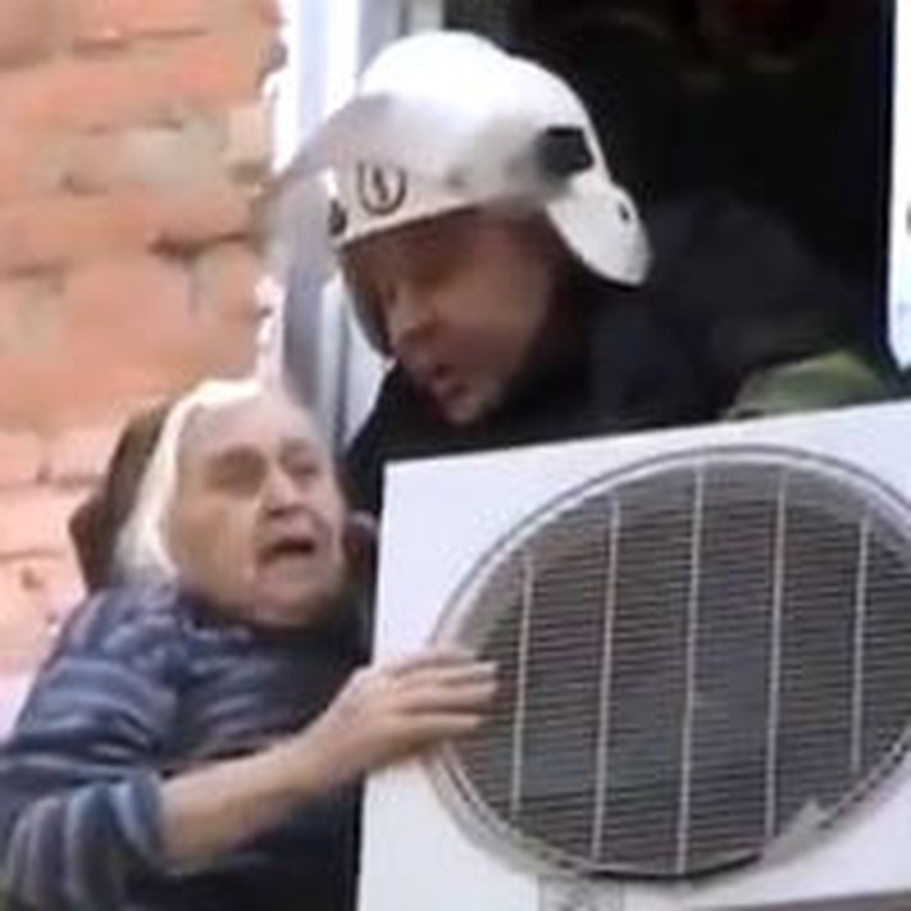 Quick Acting Firemen Rescue a Grandmother From Falling to Her Death