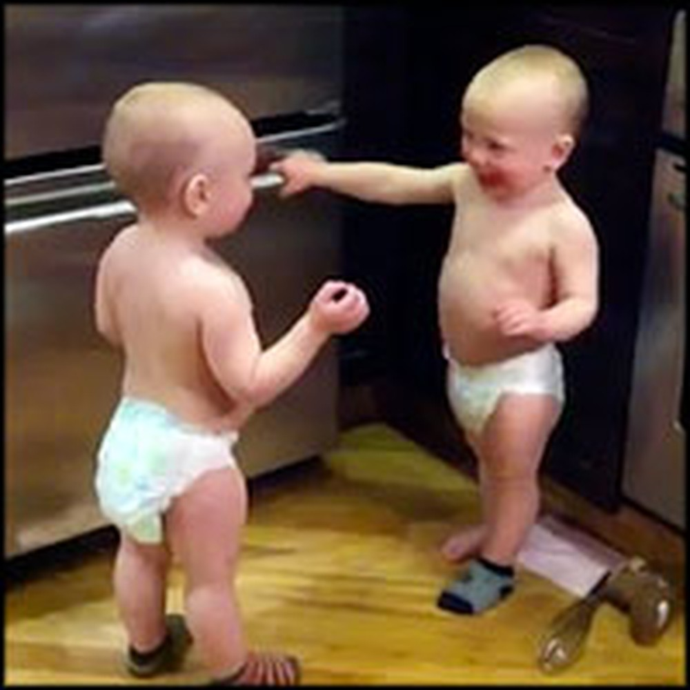 Adorable Baby Twins Have a Hilarious Conversation