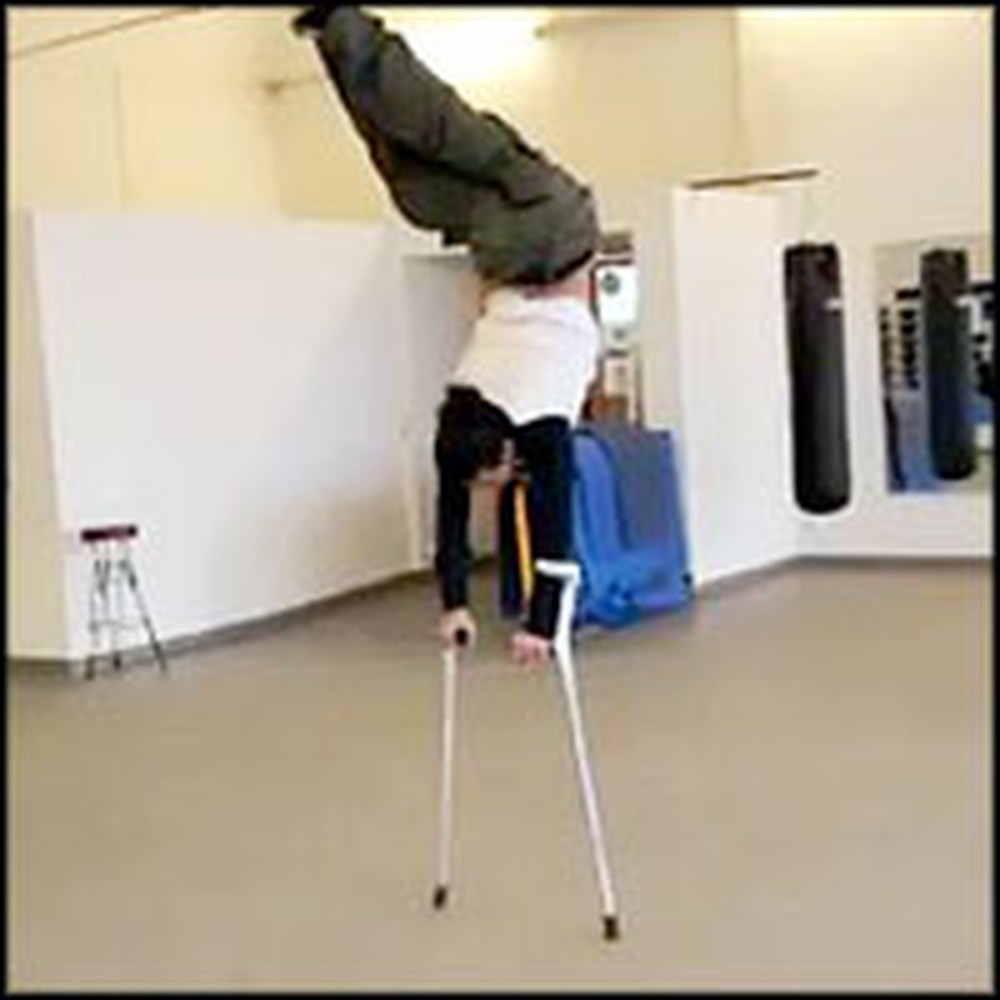 Victim of Polio Relies on Crutches to Walk - But is an Incredible Dancer