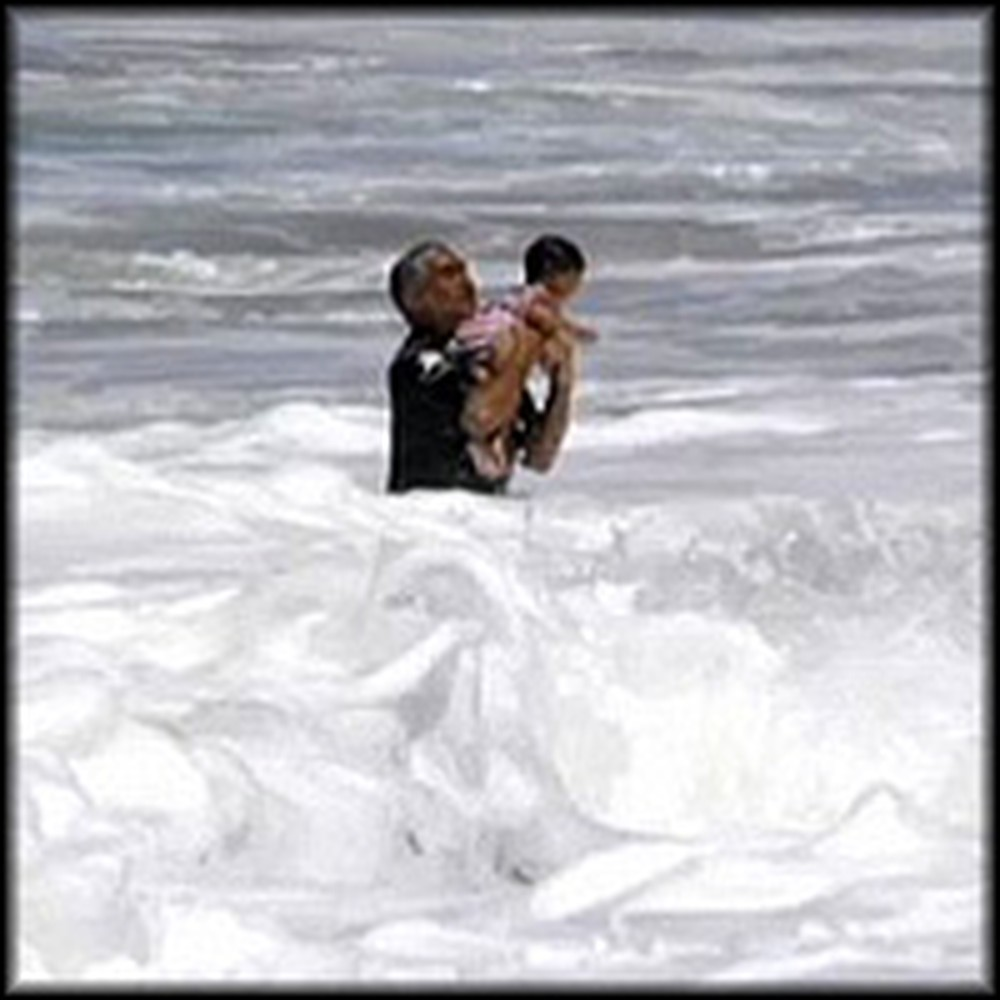 Toddler Miraculously Saved From Being Swept Out to Sea
