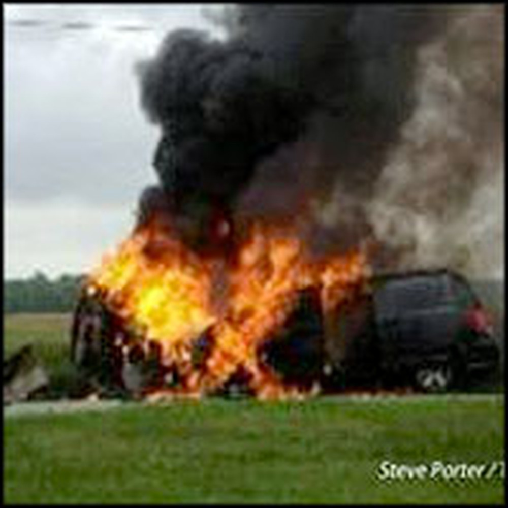 Teen Rescues His Family From a Burning Van and Gives Credit to God