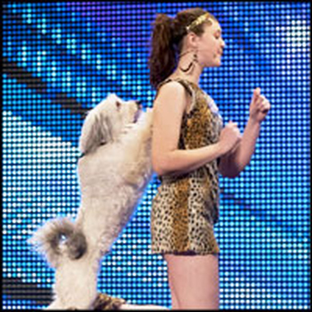 Girl and Her Dancing Doggie Best Friend Perform a Dazzling Routine