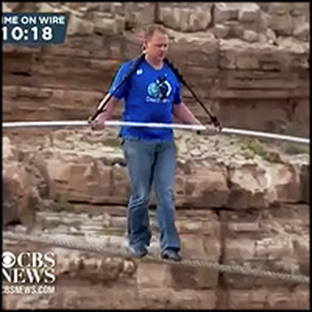 Christian Tightrope Walker Crosses Grand Canyon While Praising Jesus