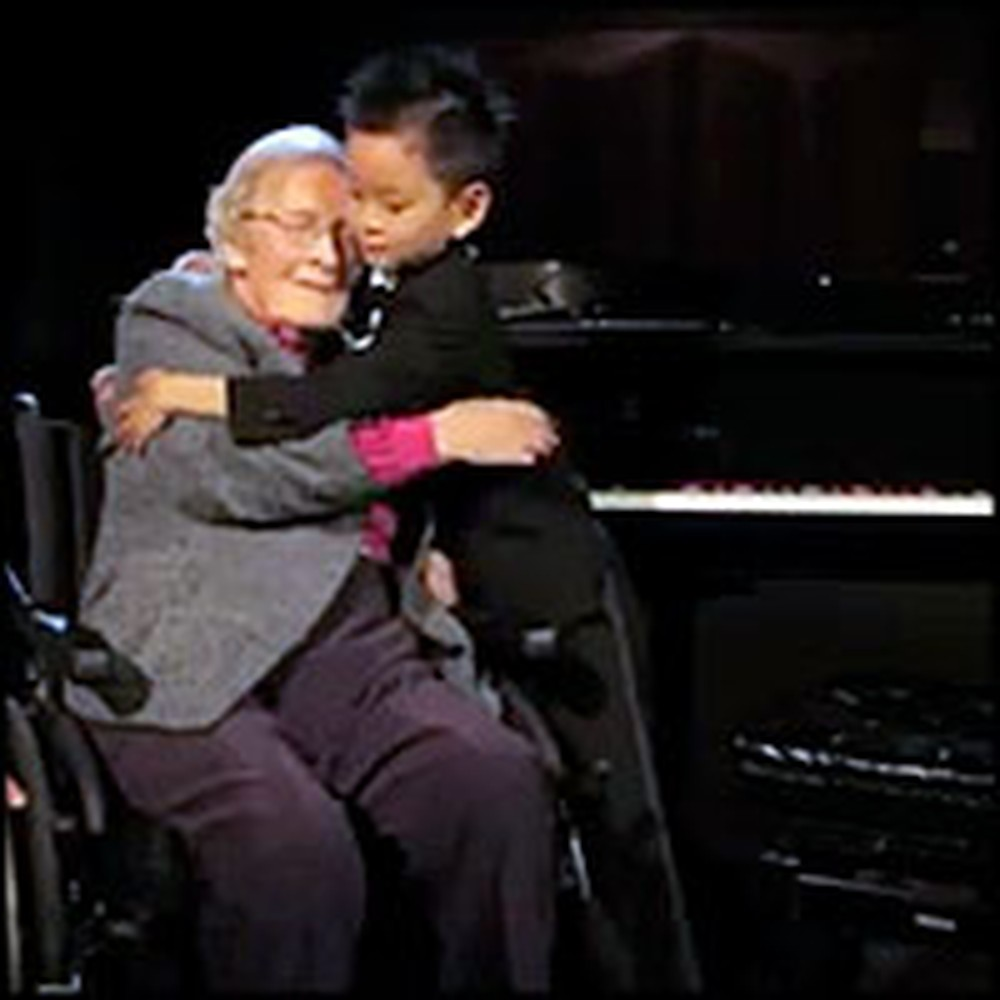 5 Year-Old Piano Prodigy Plays for His Special 101 Year-Old Friend